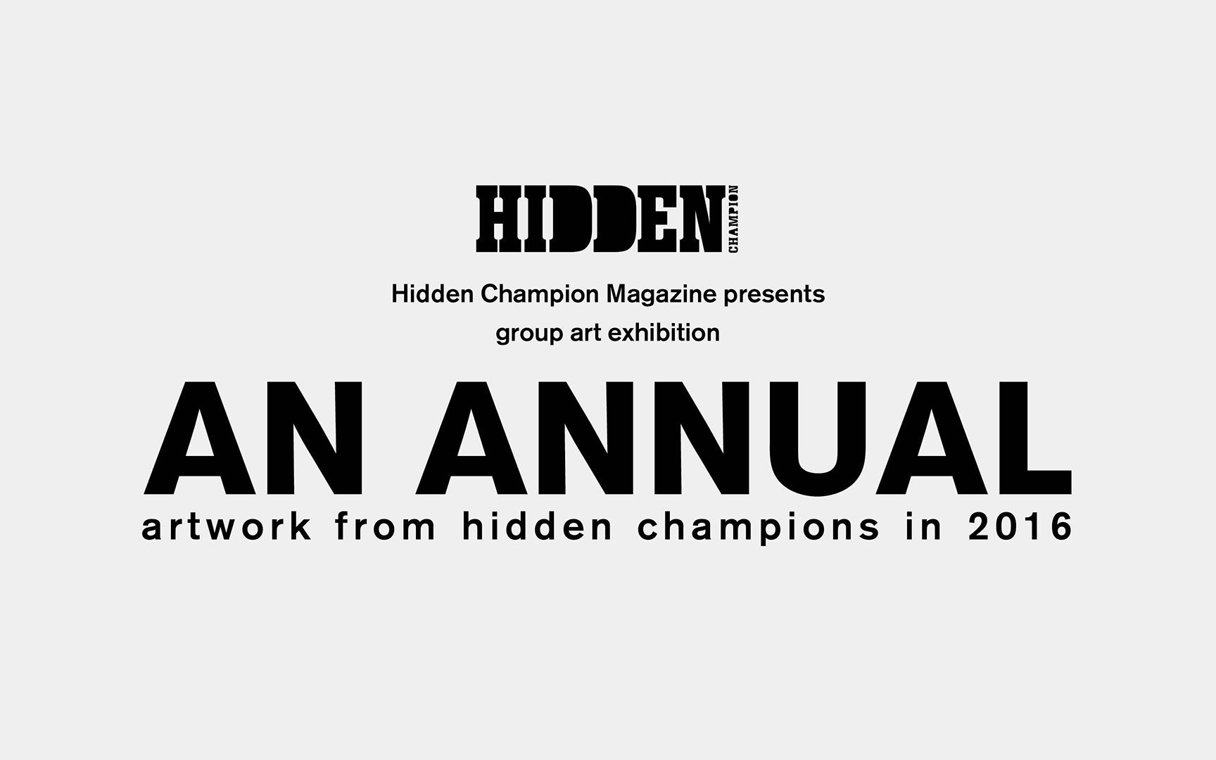 """AN ANNUAL"" artwork from hidden champions in 2016"